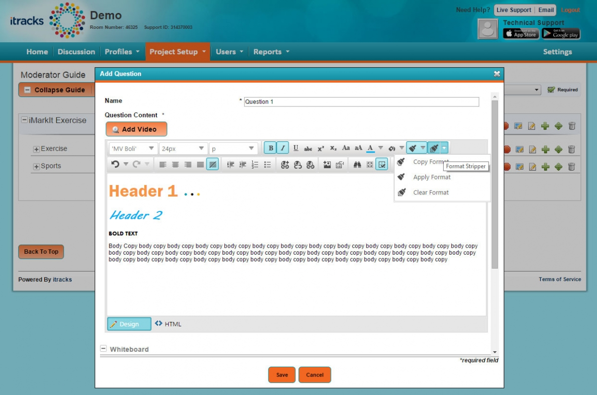 Updated rich text editor