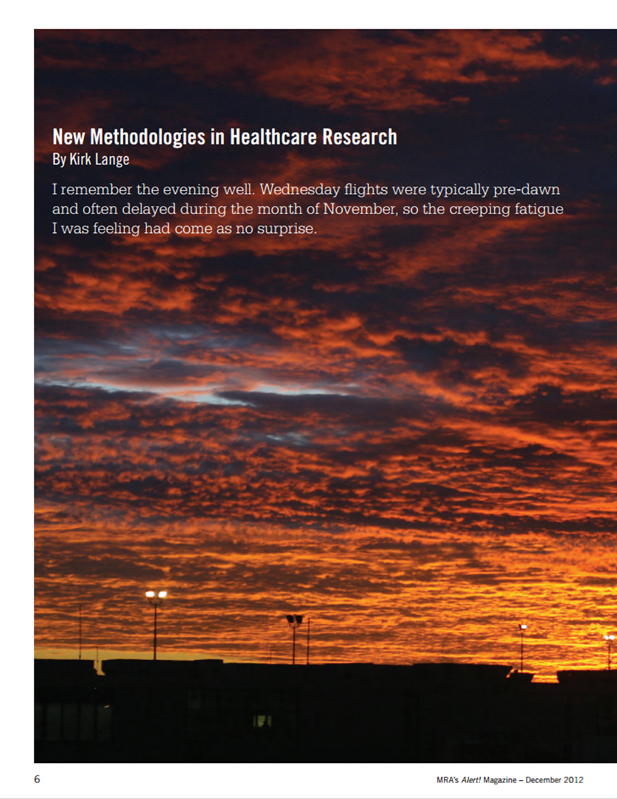 New Methodologies in Healthcare Research Article - December 2012