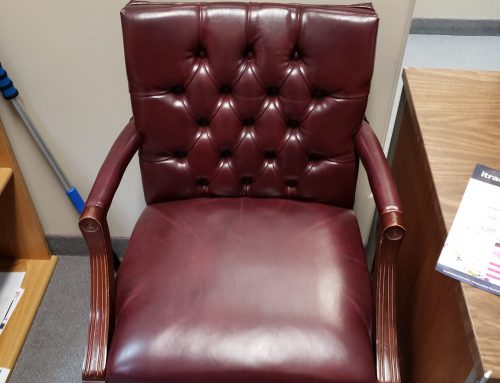 Burgundy Leather Tuft Chairs